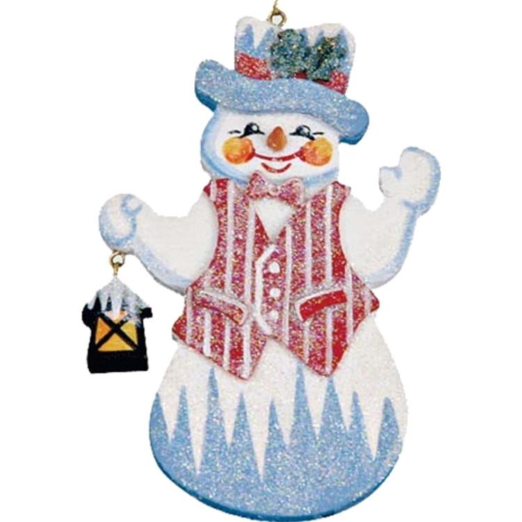 Frosty Snowman with Lantern