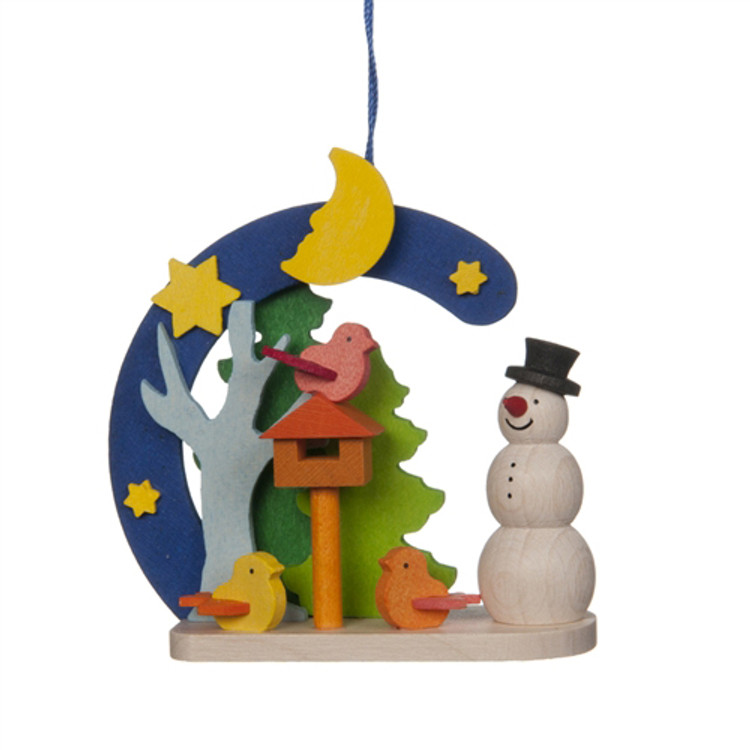 Snowman with Aviary