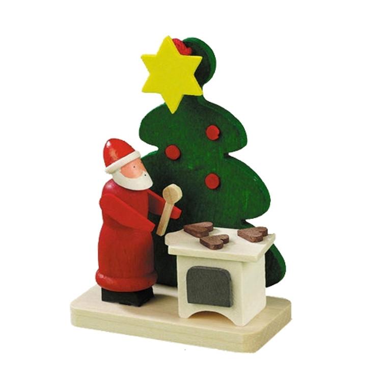 Tree with Santa Baking Cookies