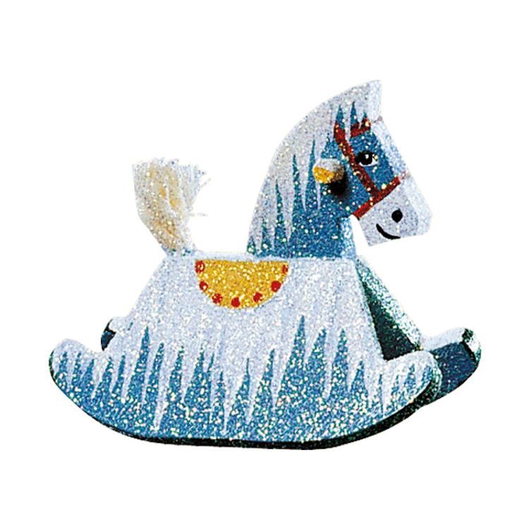 Frosty Rocking Horse