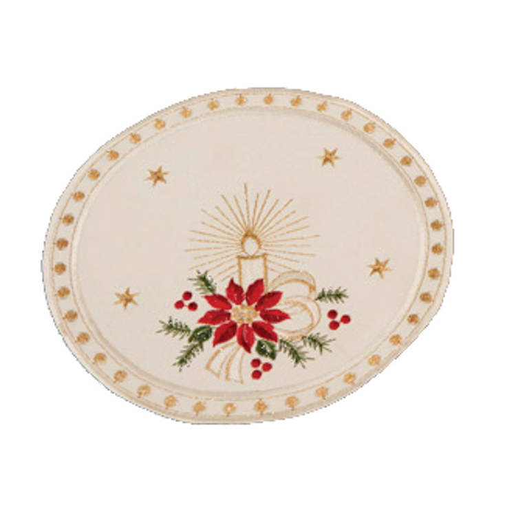 """Ivory Poinsettia with Dots - Round 7"""""""