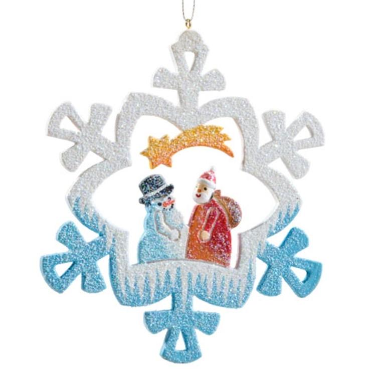 Frosty Santa with Snowman