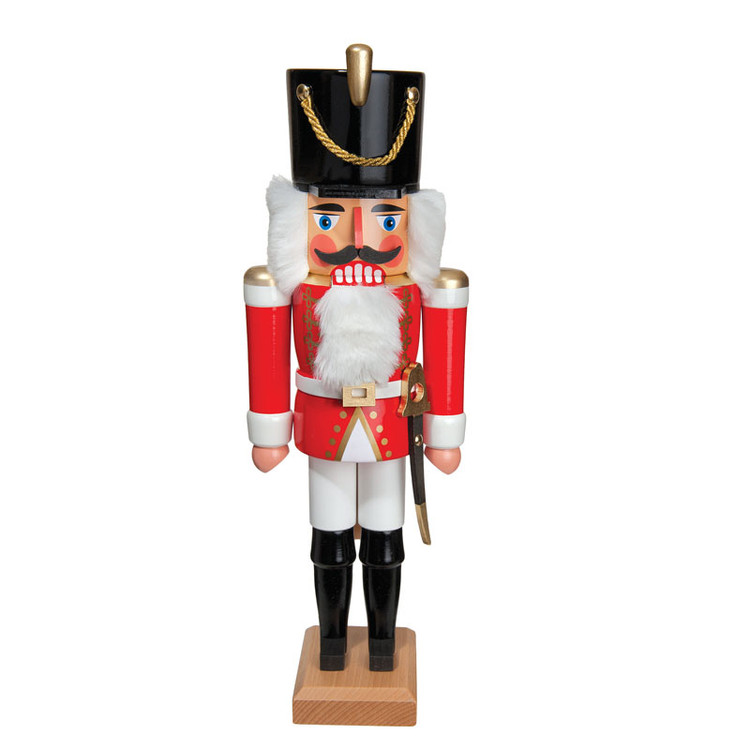 """Hussar Red with Rifle 14"""" Nutcracker"""