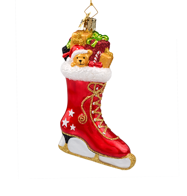 Red Ice Skate with Toys