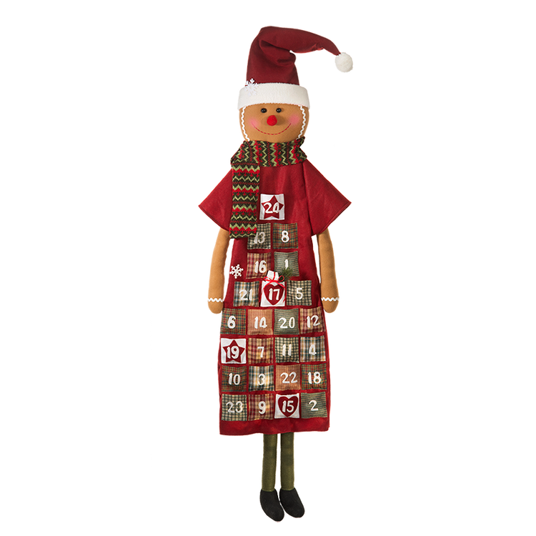 Fabric Advent Calendar Gingerbread