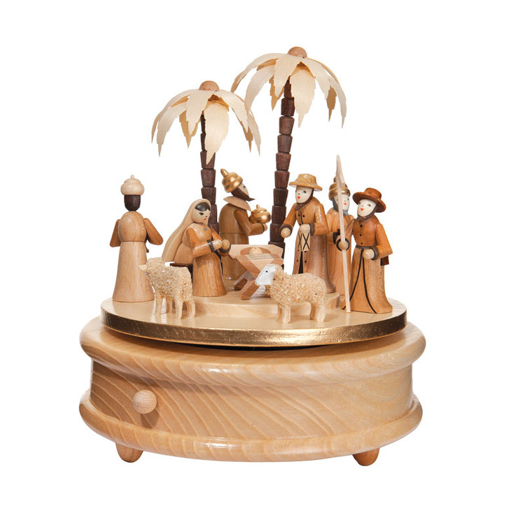 Nativity Natural Music Box