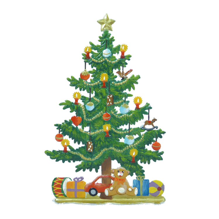 Standing Christmas Tree Pewter