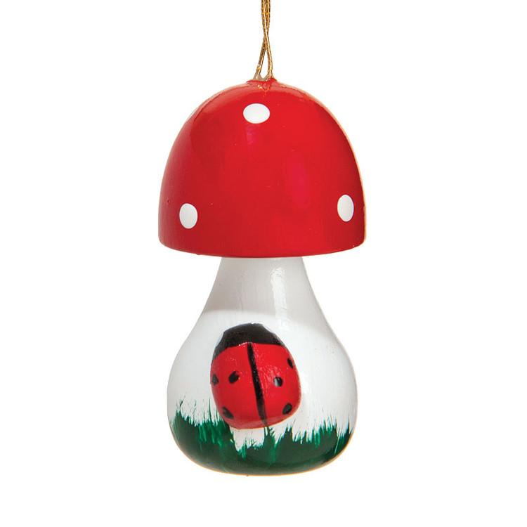 Mushroom wooden ornament