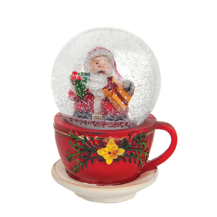 Cup with Santa Snow Globe