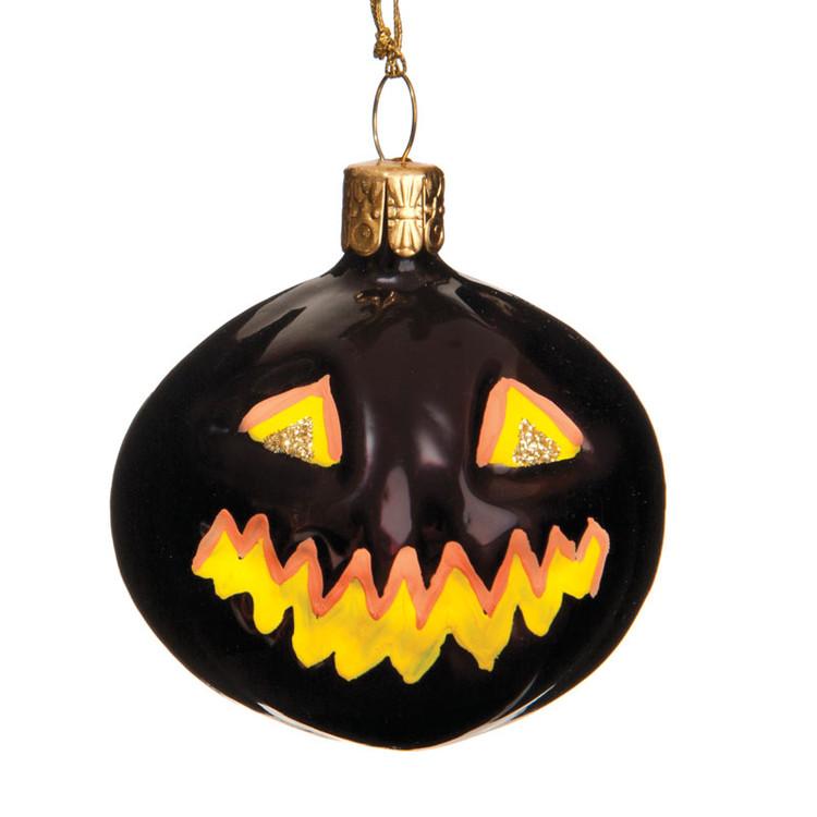 Black Jack-O-Lantern Halloween Series Glass