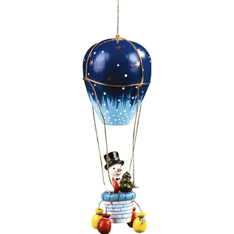 Snowman in Air Balloon