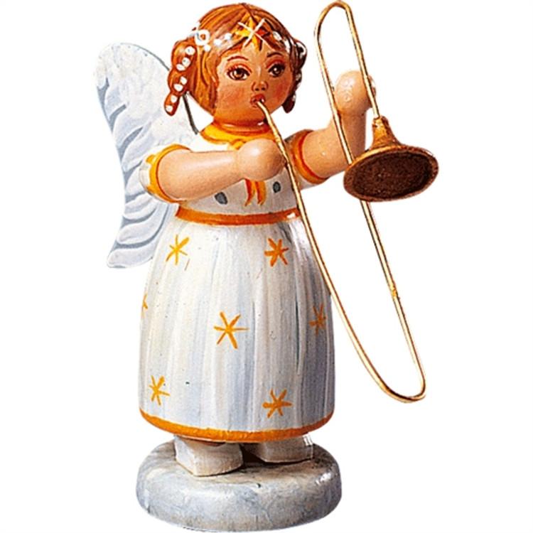 Yellow Stars Angel with Trombone