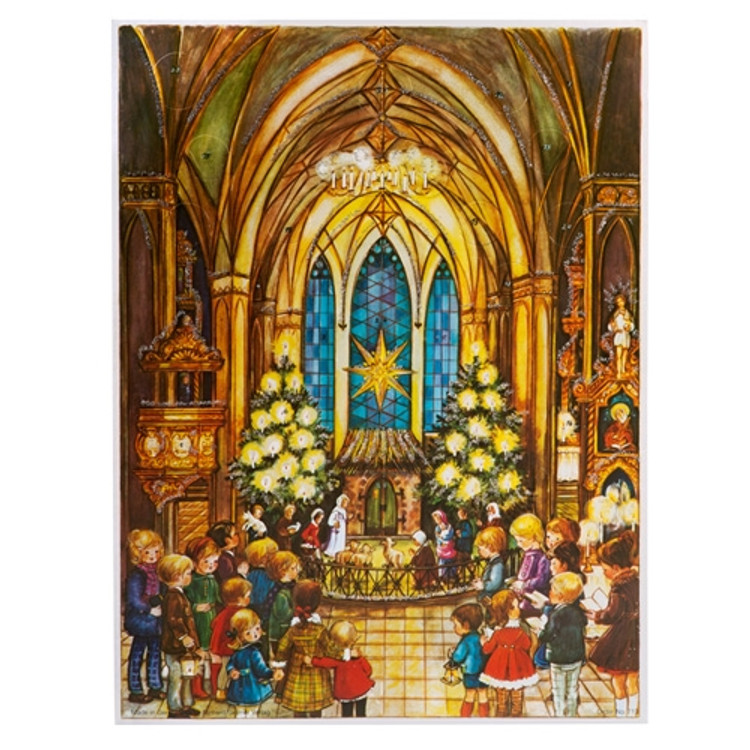 Manger in Church Advent Calendar