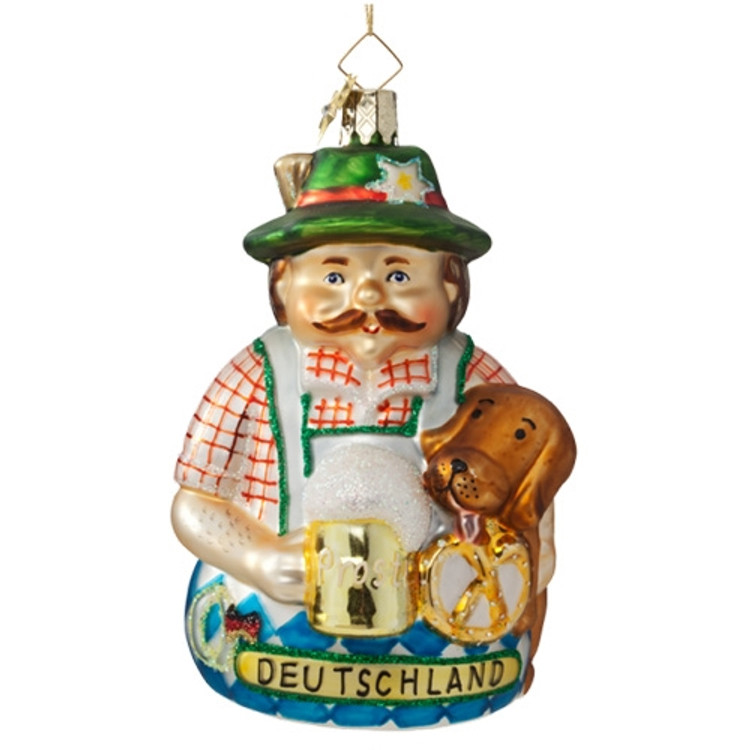 Bavarian Man with Dog Large