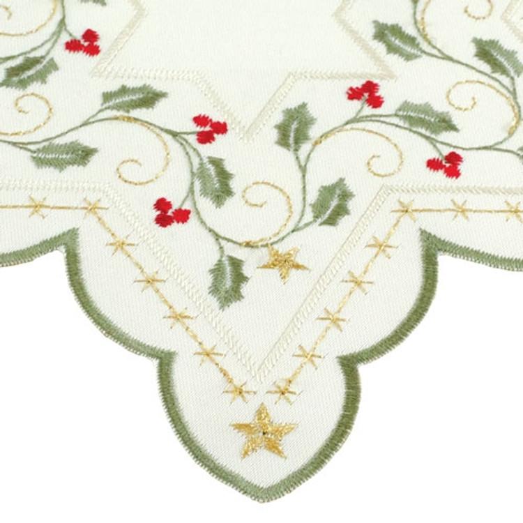 """Green Trim Poinsettia - 10"""" Star"""