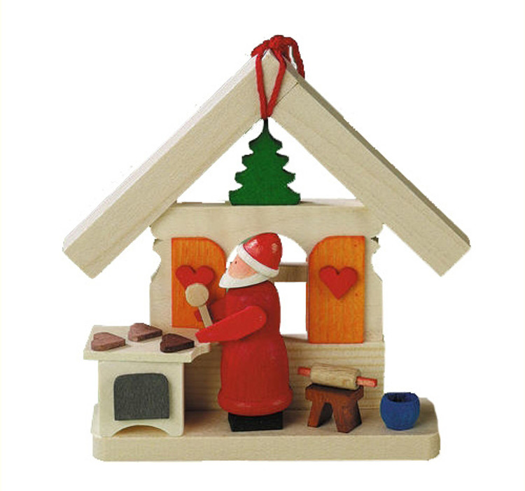 House with Santa Baking Cookies