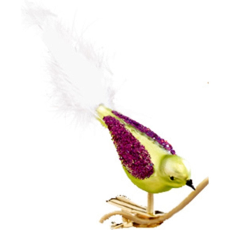 Green/Purple Glass Bird