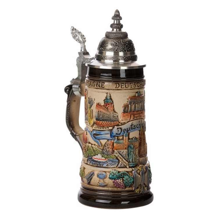 German Landmarks Beer Stein