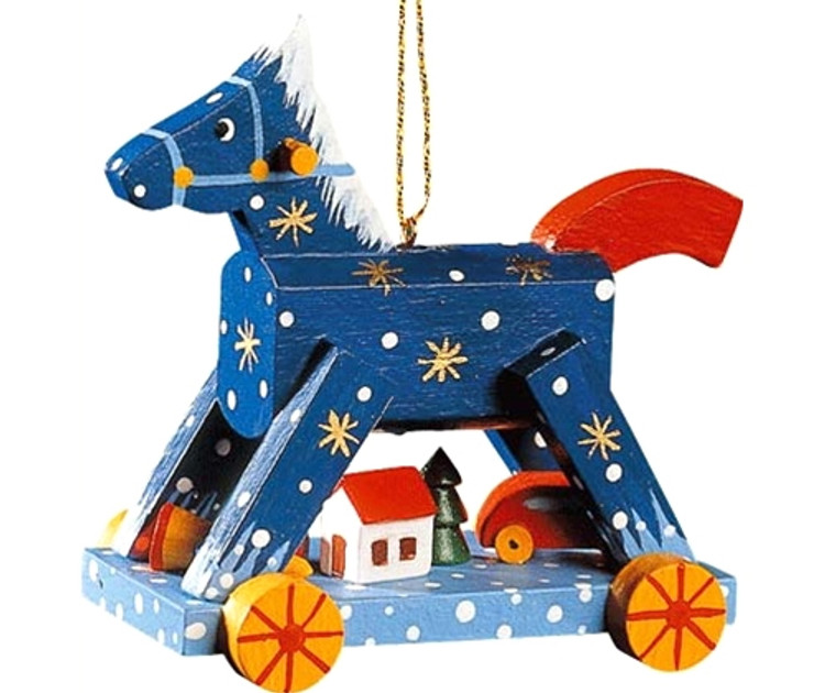 Winter Rocking Horse