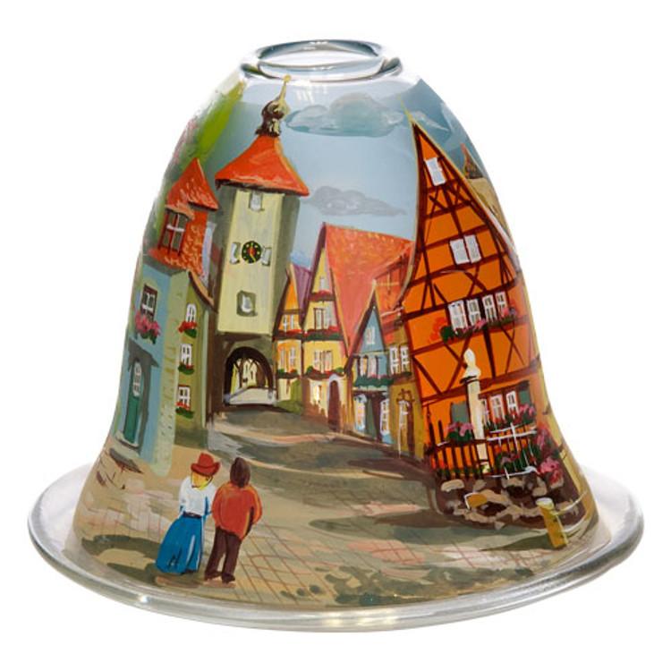 Rothenburg's Plönlein Bell Tealight Candleholder