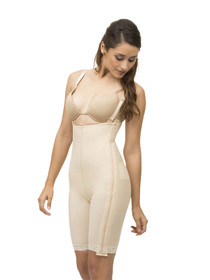 Isavela Stage 1 Body Suit with Suspenders with Separating Zippers - Mid-Thigh