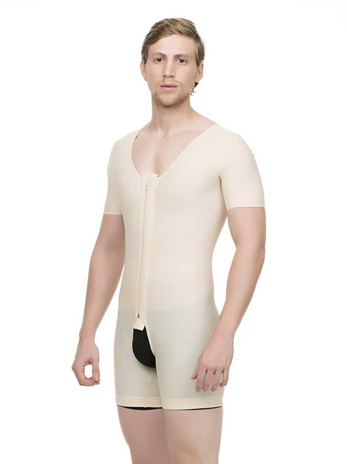Male Compression Body Suit - Short Sleeves