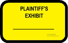 PLAINTIFF'S EXHIBIT Labels Stickers Yellow