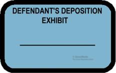 DEFENDANT'S DEPOSITION EXHIBIT