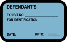 DEFENDANT'S EXHIBIT NO. FOR ID Labels