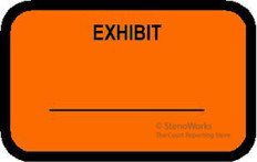 EXHIBIT Labels Fluorescent Orange