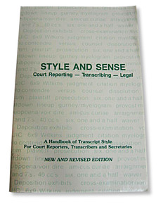 Style and Sense  Court Reporting Transcribing Legal (Paperback) GOOD