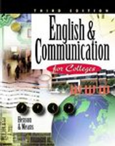 English and Communication for Colleges