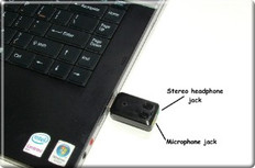 USB High Sensitivity Omnidirectional Microphone for Notebook