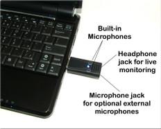 Ultra High Gain Mono/Stereo USB Omnidirectional Microphone  Free Shipping
