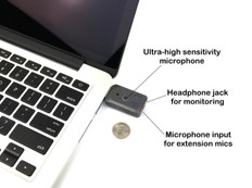 Titanium edition - Ultra High Gain Miniature Mono USB Omnidirectional Microphone