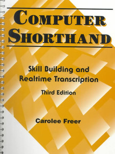 Computer Shorthand - Skill Building and Realtime Transcription - Very Good Condition