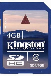 Kingston Class 4 GB SDHC 4GB FREE US SHIPPING!
