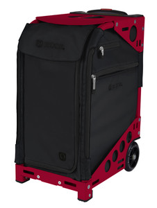 Zuca Professional Wheelie Case for Stenograph in Black - New Candy Red Frame