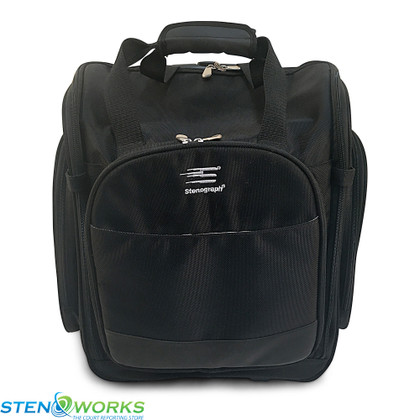 Pre-Owned Stenograph Duet Wheeled 2.0 Case Free US Shipping - Good Condition