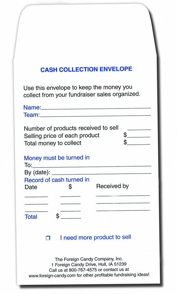Cash Collection Envelopes