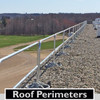 ROOF PERIMETER GUARDING WITH SRC 360 MOBILE SAFETY RAILING