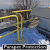 PARAPET WALL GUARDING WITH SRC 360 MOBILE SAFETY RAILING