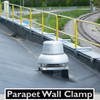 SRC PARAPET WALL CLAMP WITH RAILINGS