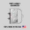 """Self-Closing Gate For Flat Bar or Wall Mount 33-39"""" (Galvanized)"""