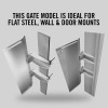 "Self-Closing Gate For Flat Bar or Wall Mount 19-25"" (Stainless Steel)"