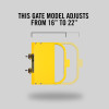 "Self-Closing Gate For Flat Bar or Wall Mount 16-22"" (Safety Yellow)"