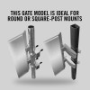 "Self-Closing Gate for Square or Round Post Mount 30-36"" (Stainless Steel)"