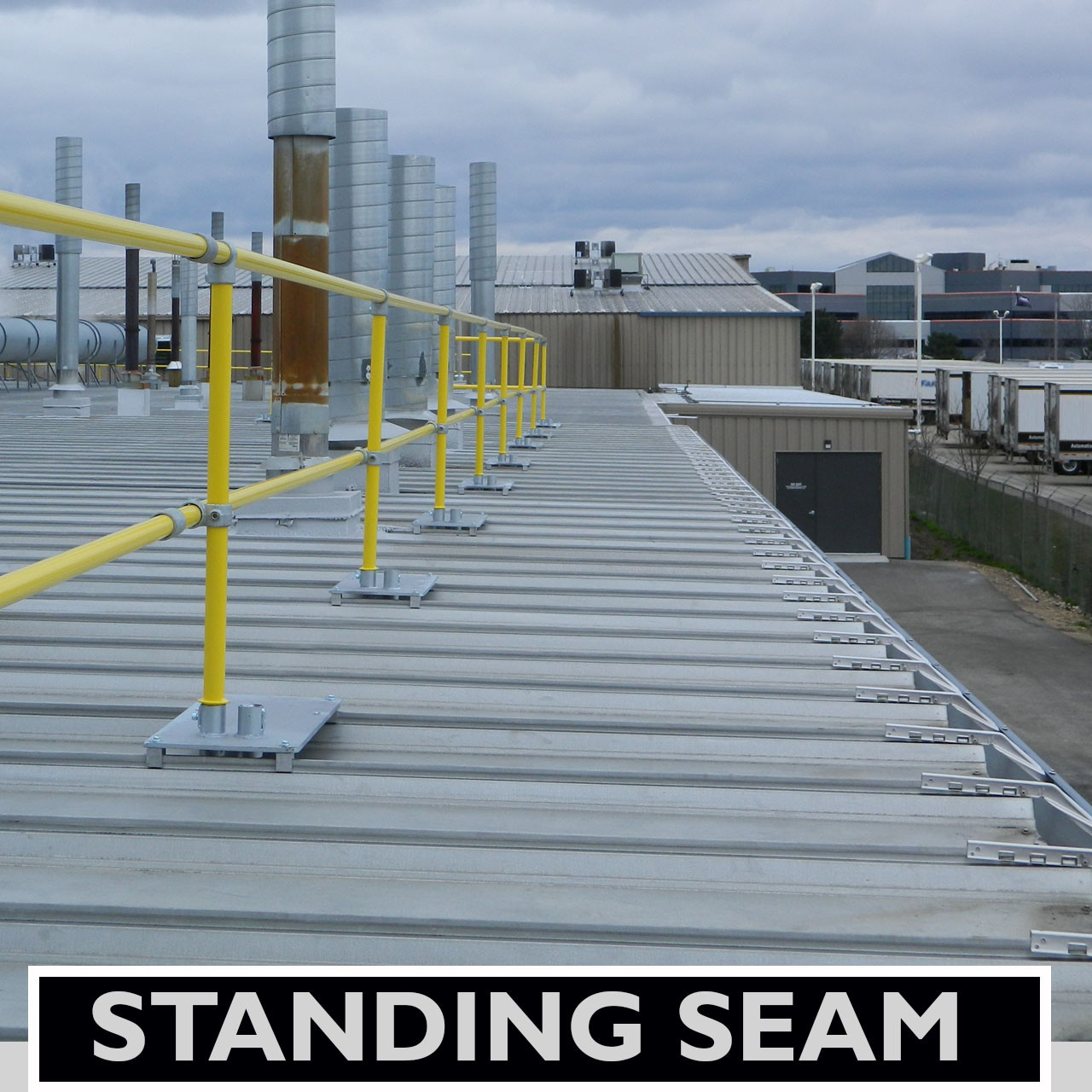 Accu Fit Guardrail For Standing Seam Metal Decks Safety