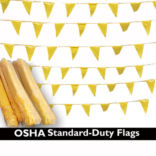 OHSA Visual Warning Line Pennants - 105 ft length