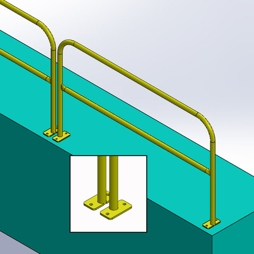 FLOOR MOUNT GUARDRAIL SYSTEM - PERMANENT